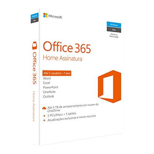 Office 365 - Home 12 Meses de Assinatura  - PC