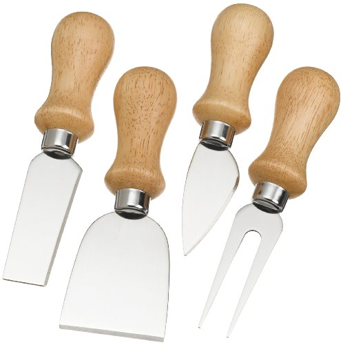 Prodyne K-4-W Cheese Knives with Polished Wood Handles, Set of ()