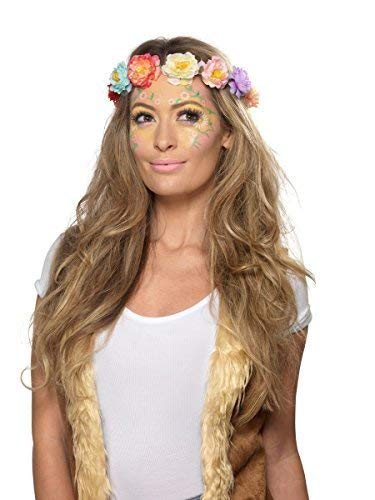 Ladies 1960s 1970s Hippie Hippy Flower Make Up Face Paint Gems Festival Carnival Fancy Dress Costume Accessory Kit