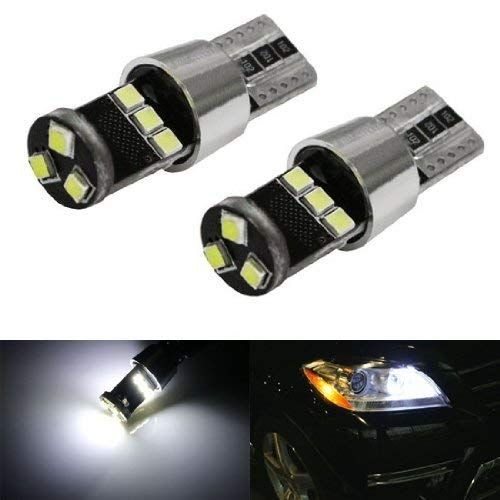 iJDMTOY (2) HID Match Xenon White 9-SMD-2835 CAN-bus Error Free 2825 W5W 168 194 LED Parking Light Bulbs For Audi BMW Mercedes Porsche Volkswagen & More iJDMTOY Auto Accessories 2008 2009 2010 2011 2012 2013 2014 2015