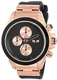 Vestal Unisex ZR2CS05 ZR-2 Rubber Black Rose Gold Minimalist Watch