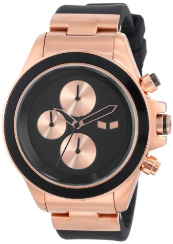 Vestal Unisex ZR2CS05 ZR-2 Rubber Black Rose Gold Minimalist Watch