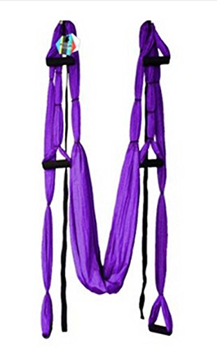 Yosoo Yoga Hammocks Swing Inversion Sling Fitness (Purple)