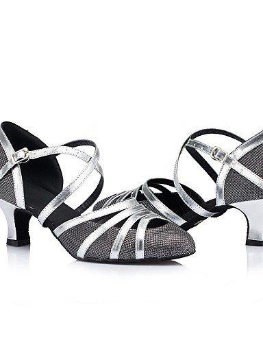 Cuir Swing Femmes Modernes Danse Jazz Simili Samba Non De Cuir Chaussures Latine Shangyi Noir Personnalisables Chaussures Flamenco qwvFxZX