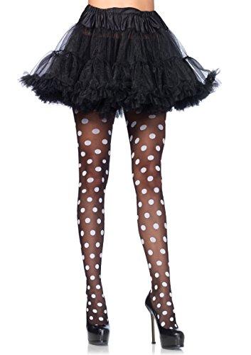 Leg Avenue Womens Sheer Polka Dot Tights ()