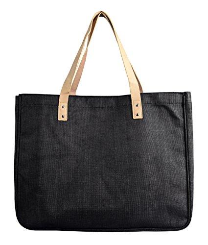 Tasseled Hobo Handbag - Peach Couture Denim Jeans Handbags Hobos Large Travel Tote Bags Shoulder Bags (Denim Black)