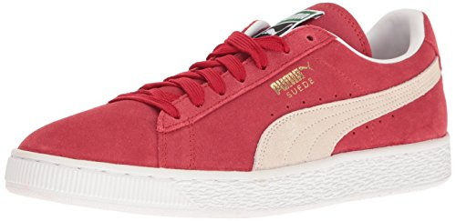 PUMA Men's Suede Classic+ Fashion Sneaker, Team Regal Red/White, 10.5 M US