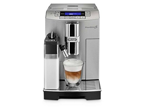 DeLonghi ECAM28465MB Prima Donna Super Fully Automatic Espresso and Cappuccino Machine, Silver-Black (Percolator Delonghi)