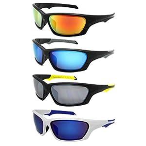 Edge I-Wear Sports Safety Sunglasses ANSI Z87+ Color Mirror Lens 570092/REV-4WHT.burev)