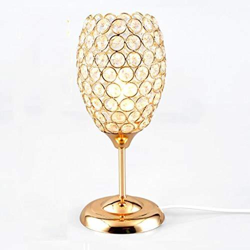 SLIANG Table lamp,Crystal lamp Bedside Crystal Table lamp Modern Simple Living Room Desk bar Bead Curtain Table lamp3212cm (Color : Gold)