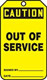 out of service signs - Accuform Signs MDT641CTP Safety Tag, Legend