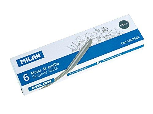Caja 6 Minas de recambio 5,2mm de Grafito Milan 3802062