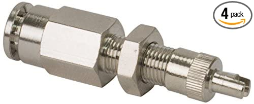 DOT Approved, PTC Style, Nickel Plated VIAIR 11492 Inflation Valve 4 Pack for 1//4 Air Line