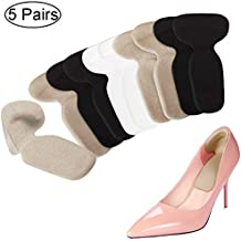 Heel Cushion Inserts - Heel Grips & Shoe Pads for Women - Non Slip Gel Back of Heel Liners, Blister Prevention and Protectors for Womens Loose Shoes and High Heels Too Big (10 pcs)