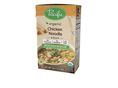 Pacific Foods Reduced Sodium Organic Chicken Noodle Soup, 17 oz