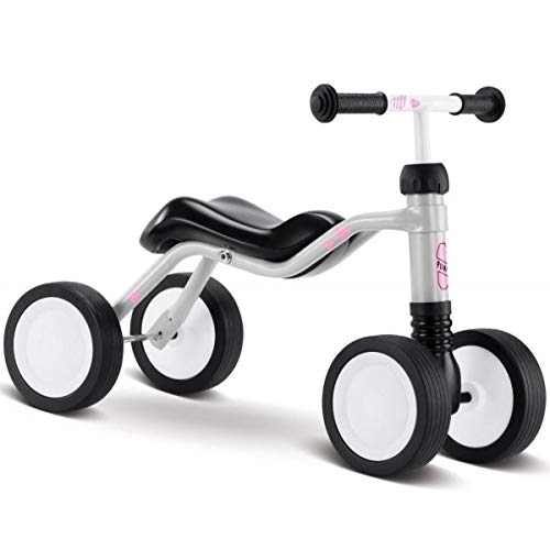 Puky 3025 Balance Bike, Grey (with Pink and Blue Stickers to Use)