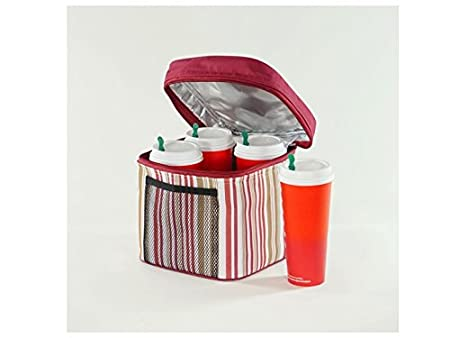 Insulated Beverage Carrier   'bev Bag' (Red) by Royce International