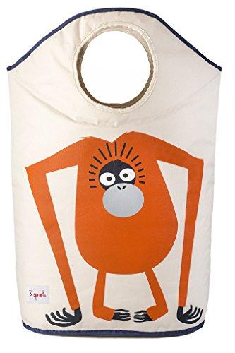 3 Sprouts Laundry Hamper, Orangutan