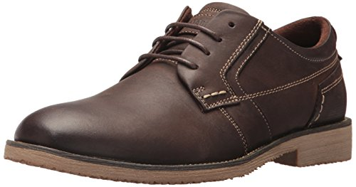 Steve Madden Men's Lanister Oxford, Chocolate, 7.5 M (Chocolate Distressed Footwear)