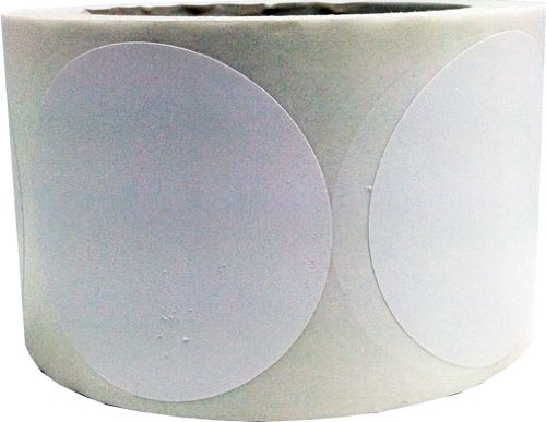 "White Color Coding Dot Labels 3"" Inch Round - 500 Colored Circle Inventory Stickers Per Roll"