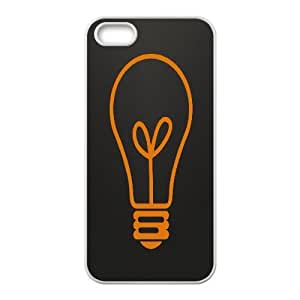 Iphone 5/5S Case, Abstract Light Bulb Case for Iphone 5/5S White Leemarson if4110203