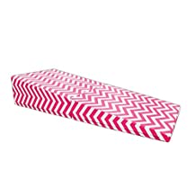 AK Athletics Pink and White Chevron Folding Incline Gymnastics Wedge Mat