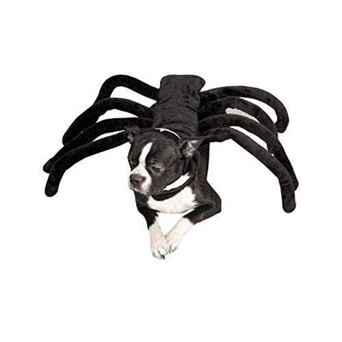 Li Hua Cat Pet Small Dog Cat Funny Cloth Bat Spider Style Harness Costume Halloween Christmas Birthdays Photo Show and Play Dates Collar (L, Spider)]()