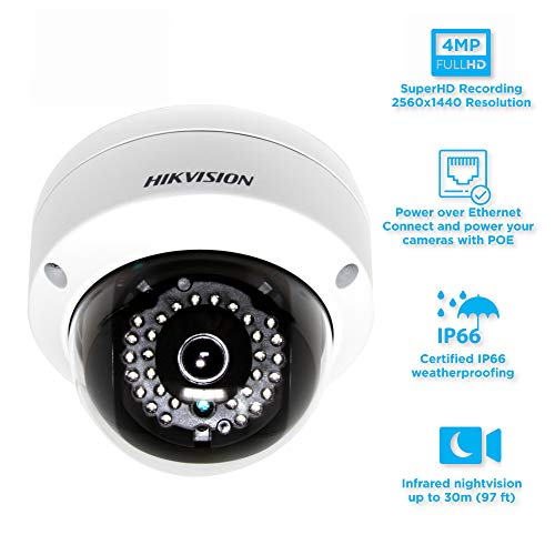 For Hikvision ip camera 4MP DS-2CD2142FWD-I 2.8MM WDR Fixed HD IR Night Vision Network Dome Security Camera - Dual Ir Dome Kit
