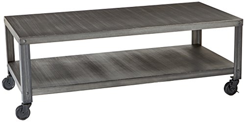 Ashley Furniture Signature Design - Hattney Coffee Table - Cocktail Height - Rectangular - Gray -