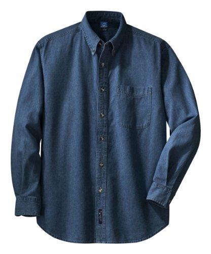 Long Sleeve Value Denim Shirt, Color: Ink, Size: Large