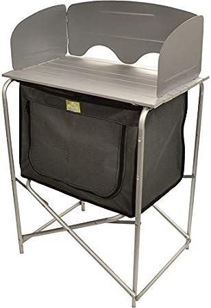 Viamondo - Mueble de cocina de camping plegable de aluminio ...