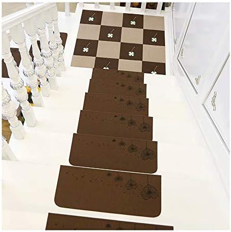 YXUD Alfombras escaleras, Alfombra Antideslizante Autoadhesivo Peldaños Diente de Leon para escaleras, Lavable a máquina (55 x 22 cm)(No Incluye Plataformas de Plataforma),Brown,15pieces: Amazon.es: Hogar