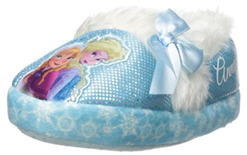 Disney Frozen Slippers (Disney Frozen Favorite Characters Toddler/Little Kid Slippers (5/6 - S,Blue/White))