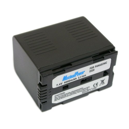Maximal Power DB PAN CGR-D320/D28 Replacement Battery for Panasonic Digital Camera/Camcorder (Black)