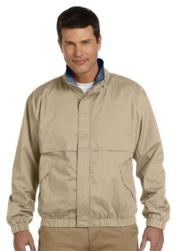 Devon And Jones Classic Jacket (Devon & Jones - Men's Clubhouse Jacket >> M,KHAKI/NAVY)