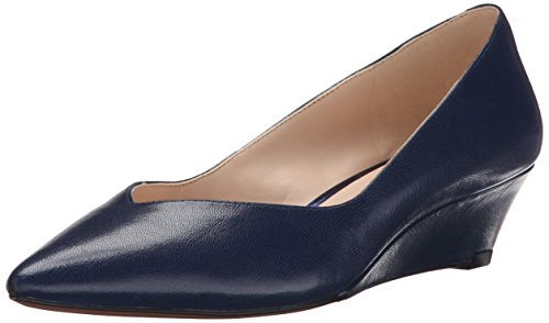 Nine West Elenta Leder Wedge Pump Navy