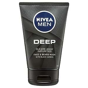 NIVEA MEN Deep, Moisturising Face and Beard Wash, 100ml