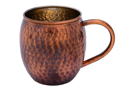 Hammered Copper Mug with Antique Finish - Perfect for Moscow Mules - Copper Cup by Alchemade - 16 oz