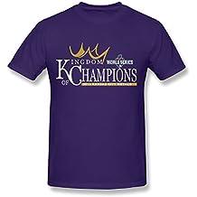 SPOW Men's Kansas City Royals Royal 2015 World Series Champions T-Shirt S