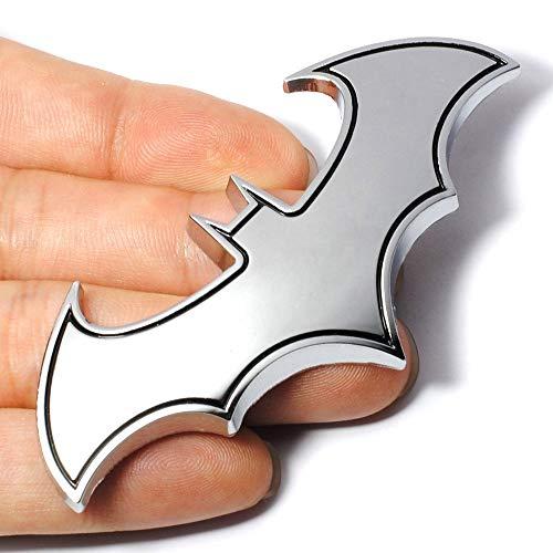 Dealetech DIY Bat 3D Metal Sticker Auto Car Motorcycle Logo Badge Emblem Tail Decals (silver) -