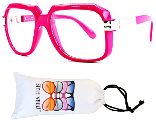 A172-vp Style Vault Flat Top Square Eyeglasses (S2181V Hot Pink-Clear, - Frames Eyeglass Pink Hot