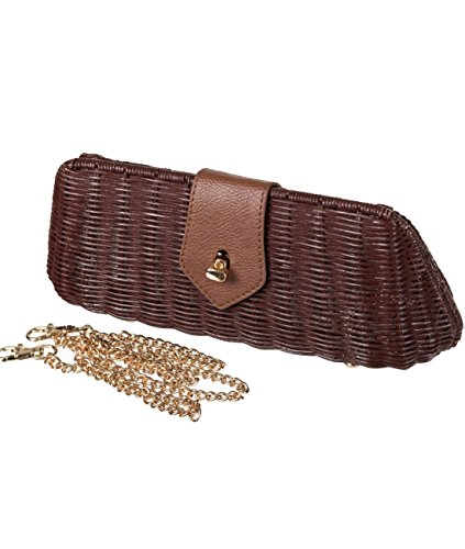 Banned Clutch size Women's Banned BROWN Brown standard Women's PO0tw5qWq