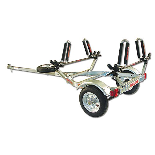 Malone Auto Racks MicroSport Trailer Kayak Transport Package with 2 Malone J-Pro2 Kayak Carriers by Malone