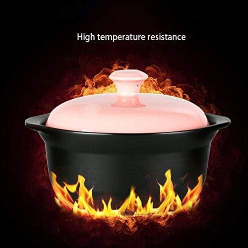 ZJZ Pot en céramique Casserole Pot en céramique Casserole Pot Casserole en céramique Aucune Fissure dans Le Froid et la Chaleur soudains, Haute température 1.2L