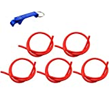 TC-Motor Red Durable Soft Rubber Universal Gas Fuel Hose Line Pipe For Honda Yamaha Suzuki Kawasaki KTM Dirt Pit Bike ATV Quad Go Kart Scooter Moped Buggy Snowmobile Motorcycle Motocross (5)