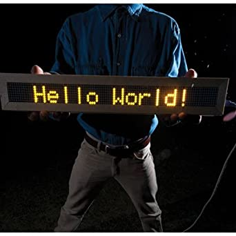 Instructables: PS/2/You: Go-anywhere LED Digital Message Board