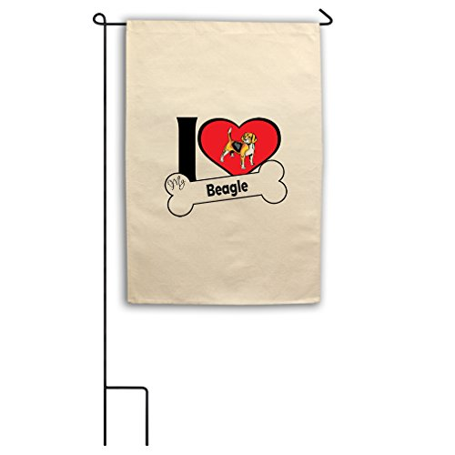 "Style in Print Canvas Yard Garden Flag 18""X27"" I Love My Bea"