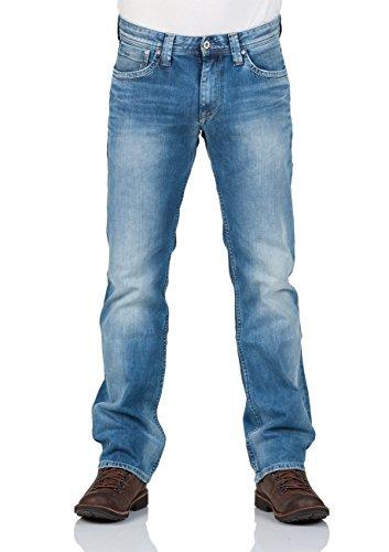 Pepe Jeans Herren Jeans Kingston Zip Pm200143m84600028 Blau (Denim), W28 (Herstellergröße: 28)
