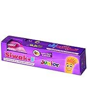 عبوة معجون بنكهة الفواكه للاطفال من سواك اف - مع فرشاة اسنان مجانية بحجم s/m