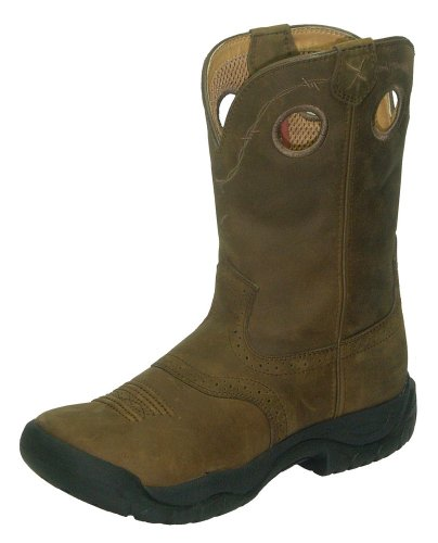 Twisted X Boots Women's WAB0001,Distressed Saddle/Distressed Leather,US 5.5 M